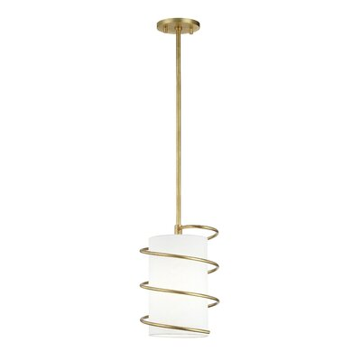Marcial 1-Light Mini Pendant Finish: Gold Leaf, Size: 12.5 H x 8.25 W x 8.25 D
