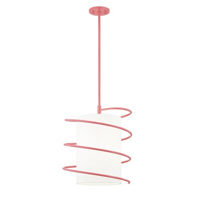 Marcial 1-Light Mini Pendant Finish: Pink, Size: 18 H x 14.75 W x 14.75 D