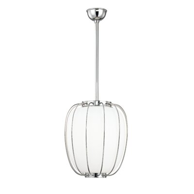 Talmo 1-Light Mini Pendant Finish: Polished Nickel, Size: 14.25 H x 14 W x 14 D