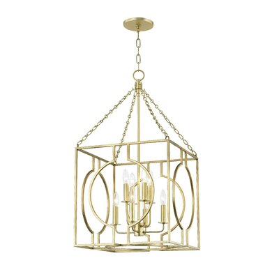 Lehner 8-Light Foyer Pendant Finish: Gold Leaf, Size: 43 H x 24 W x 24 D