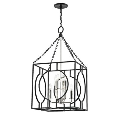 Lehner 8-Light Foyer Pendant Finish: Aged Iron/Polished Nickel, Size: 43 H x 24 W x 24 D