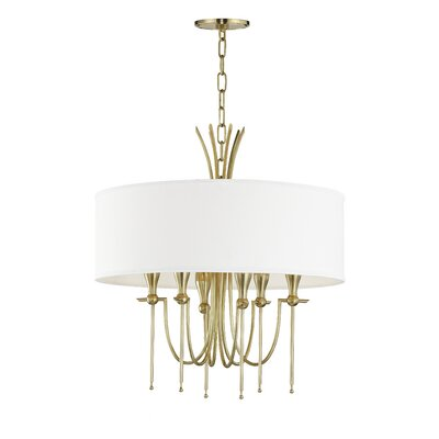 Leigh Woods 6-Light Drum Chandelier Finish: Aged Brass