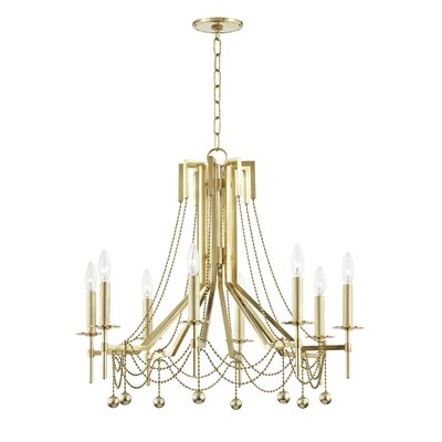 Wadsworth 8-Light Candle-Style Chandelier Finish: Aged Brass