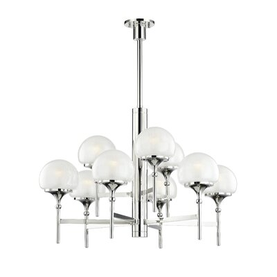 Leib 9-Light Candle-Style Chandelier Finish: Polished Nickel