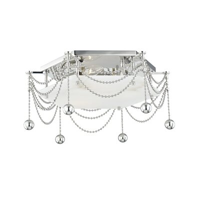 Wadsworth 3-Light Flush Mount Fixture Finish: Polished Nickel