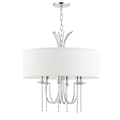 Leigh Woods 6-Light Drum Chandelier Finish: Polished Nickel