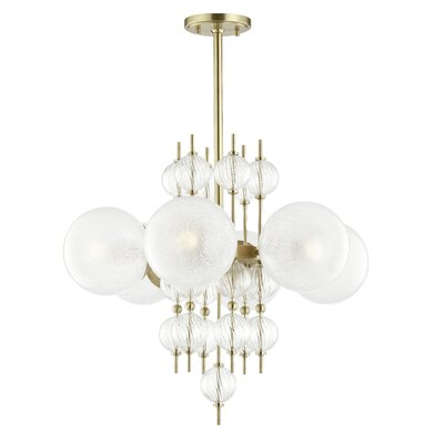 Leiser 6-Light Sputnik Chandelier Finish: Aged Brass