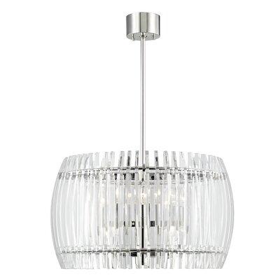 Woodham 8-Light Crystal Pendant Size: 24 W x 24 D