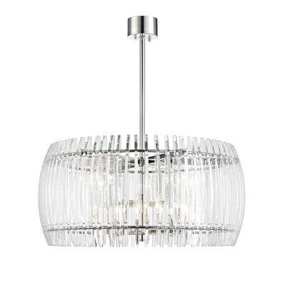 Woodham 8-Light Crystal Pendant Size: 30 W x 30 D