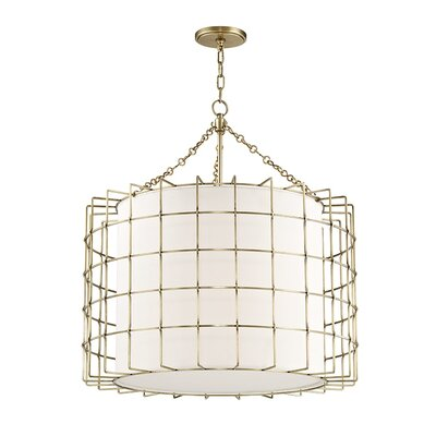 Tahlequah 4-Light Drum Pendant Finish: Aged Brass