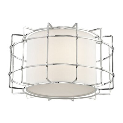 Tahlequah 2-Light LED Flush Mount Fixture Finish: Polished Nickel