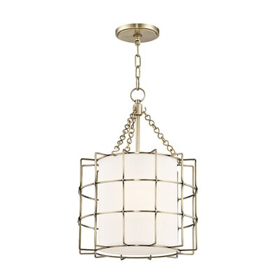 Tahlequah 2-Light Drum Pendant Finish: Aged Brass