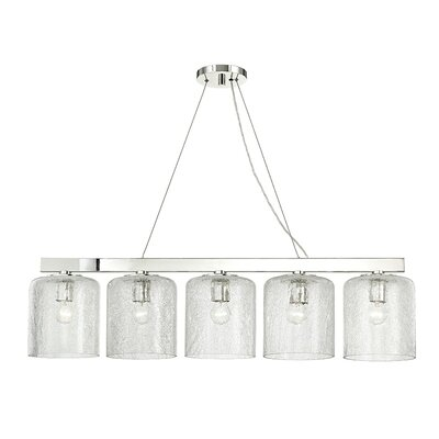 Ector 5-Light Kitchen Island Pendant Finish: Polished Nickel
