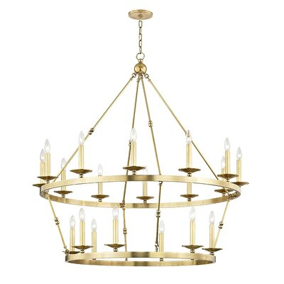 Castiglia 20-Light Candle-Style Chandelier Finish: Aged Brass