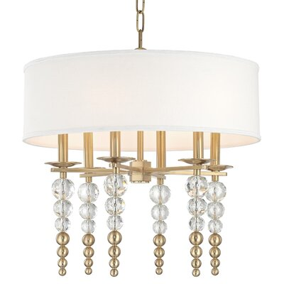 Leger 6-Light Drum Pendant Finish: Aged Brass