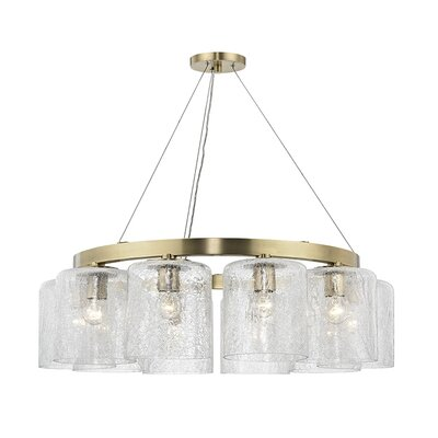 Ector 10-Light Candle-Style Chandelier Finish: Aged Brass