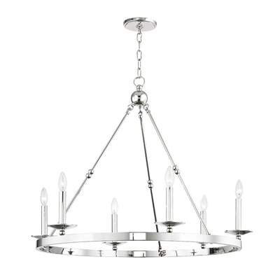 Castiglia 6-Light Candle-Style Chandelier Finish: Polished Nickel