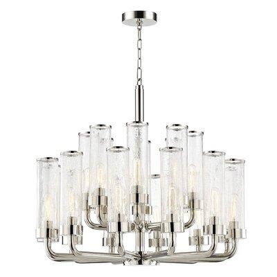 Legaspi 20-Light LED Candle-Style Chandelier Finish: Polished Nickel