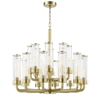 Legaspi 20-Light LED Candle-Style Chandelier Finish: Aged Brass
