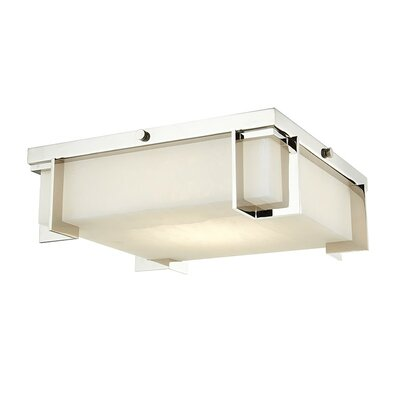 Tameka 1-Light LED Flush Mount Fixture Finish: Polished Nickel, Size: 4.25 H x 10.25 W x 10.25 D