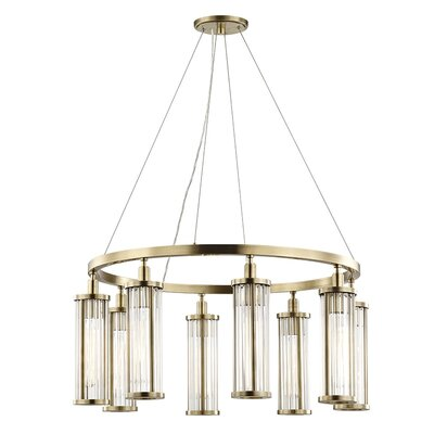 Talus 8-Light Candle-Style Chandelier Finish: Aged Brass