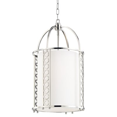 Legros 4-Light Drum Pendant Finish: Polished Nickel