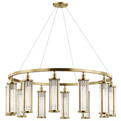 Talus 12-Light Candle-Style Chandelier Finish: Aged Brass