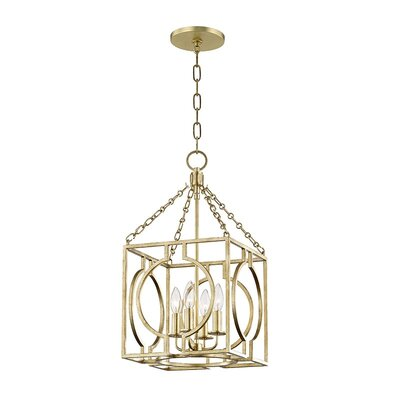 Lehner 4-Light Foyer Pendant Finish: Gold Leaf