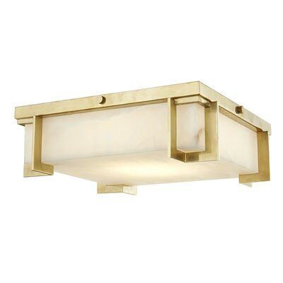 Tameka 1-Light LED Flush Mount Fixture Finish: Aged Brass, Size: 4.25 H x 10.25 W x 10.25 D