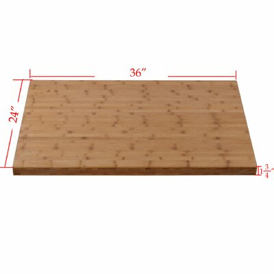 Natural Bamboo Solid Heavy Counter Table Top