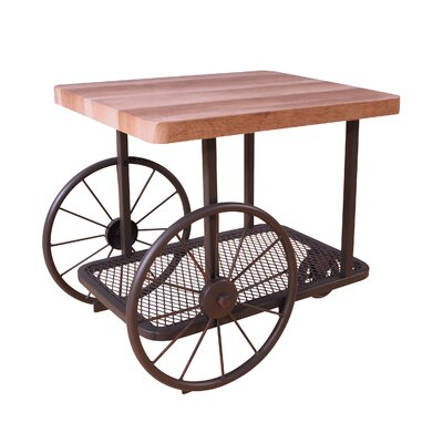 Herrod Rolling End Table