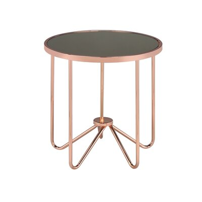 Hunsaker Smoke Glass End Table Table Top Color: Smoke