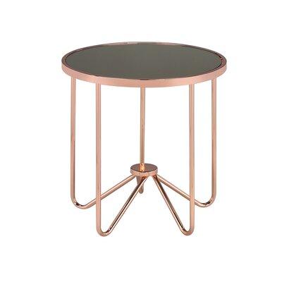 Hunsaker Smoke Glass End Table Table Top Color: Smoke