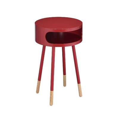 Meagher End Table Color: Red