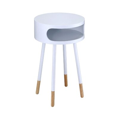 Meagher End Table Color: White