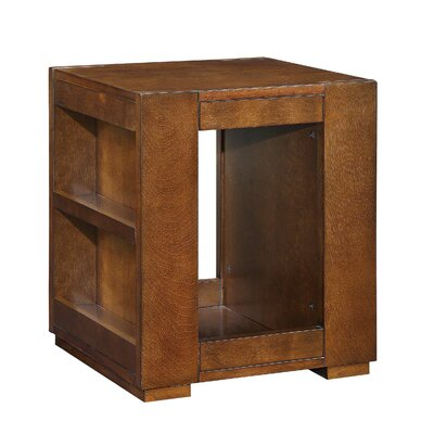 Tarrytown Side Storage Bookshelf Wooden End Table with Storage