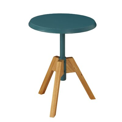 Hundley Tripod Wooden End Table Table Top Color: Teal