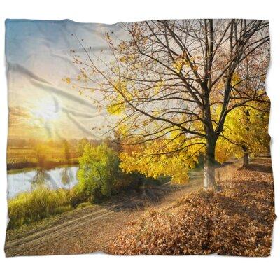 Landscape Beautiful Road by the River Blanket B2FEEFF0D23B4B47A55360E8699AA21A