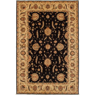 One-of-a-Kind Charlena Hand-Knotted Wool Black Area Rug