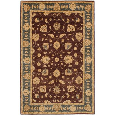 One-of-a-Kind Joule Hand-Knotted Wool Dark Brown Area Rug
