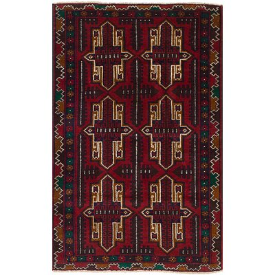 One-of-a-Kind Bilbo Hand-Knotted Wool Red Area Rug