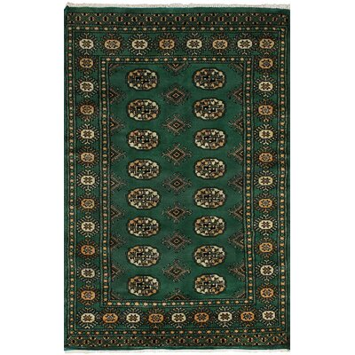 One-of-a-Kind Onondaga Hand-Knotted Wool Green Area Rug