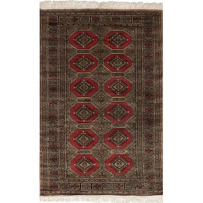 One-of-a-Kind Onondaga Hand-Knotted Wool Dark Copper/Tan Area Rug