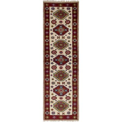 One-of-a-Kind Berkshire Hand-Knotted Wool Cream Area Rug