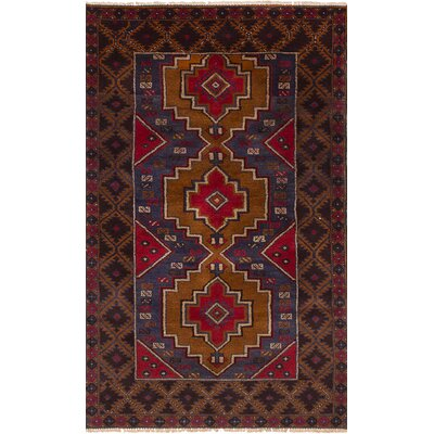 One-of-a-Kind Onawa Hand-Knotted Wool Light Brown/Red Area Rug