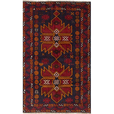 One-of-a-Kind Onawa Hand-Knotted Wool Dark Red Area Rug