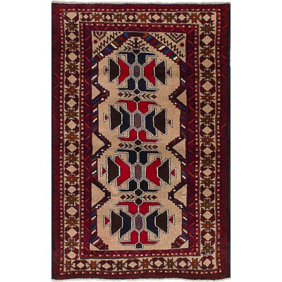 One-of-a-Kind Euler Hand-Knotted Wool Light Khaki Area Rug