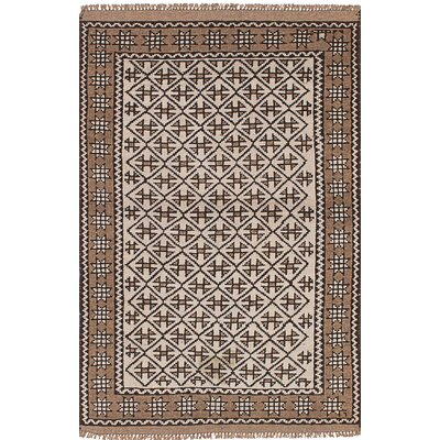 One-of-a-Kind Bilbo Hand-Knotted Wool Cream Area Rug