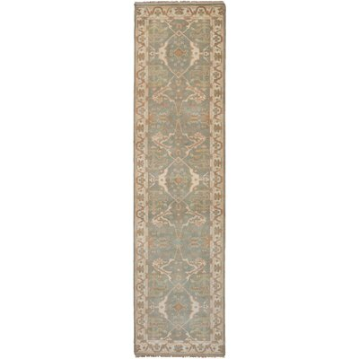 One-of-a-Kind Li Hand-Knotted Wool Gray Area Rug