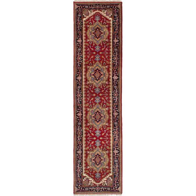 One-of-a-Kind Briggs Hand-Knotted Wool Red Area Rug